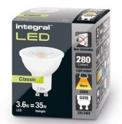 GU10 LED BULB | CLASSIC EDITION | 35W HALOGEN Equivalent | Warm White | INTEGRAL